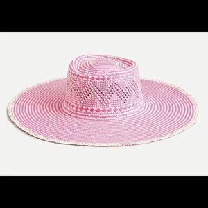 J Crew Woven Hat with Extra Wide Brim